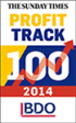 15th in The Sunday Times BDO Profit Track 100